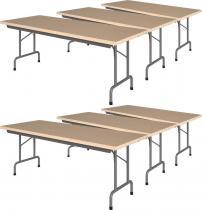 6 stołów bankietowych komplety 200x80cm Rico 4 Buk