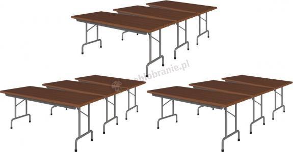 9 stołów konferencyjnych w paczce 180x80 Rico 3 Orzech