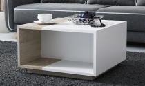 Stolik kawowy z półką Lyon Biały Mat/Dąb Sonoma