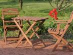 Stolik i krzesła ogrodowe składane