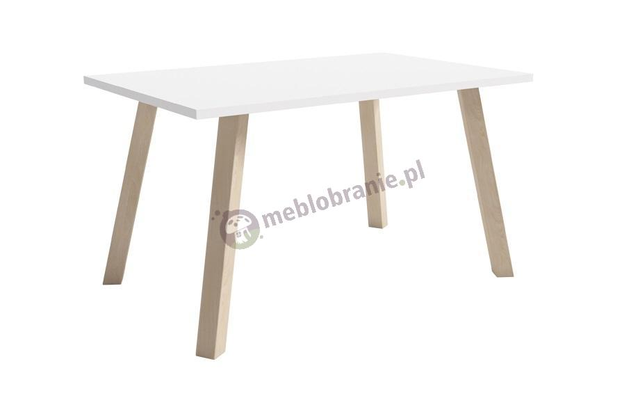 Biały stolik kawowy skandynawski bukowy Jackob