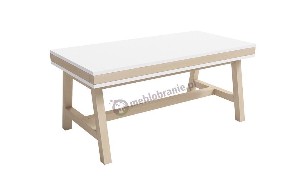 Nowoczesny stolik kawowy skandynawski biały Lily II