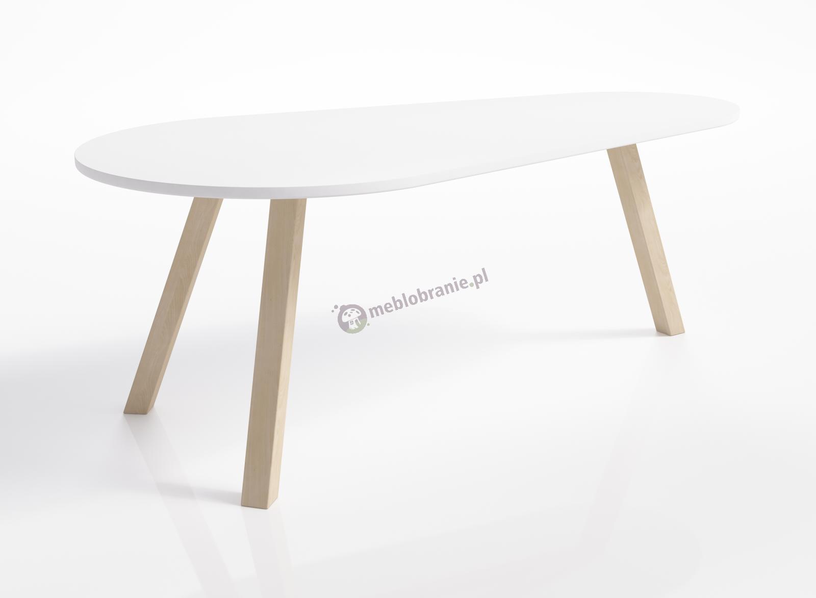 Minimalistyczny owalny stolik kawowy skandynawski Naomi