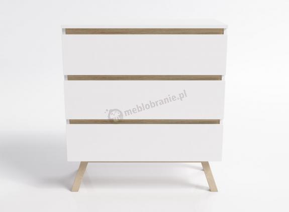 Komoda Orkla front buk 3 szuflady