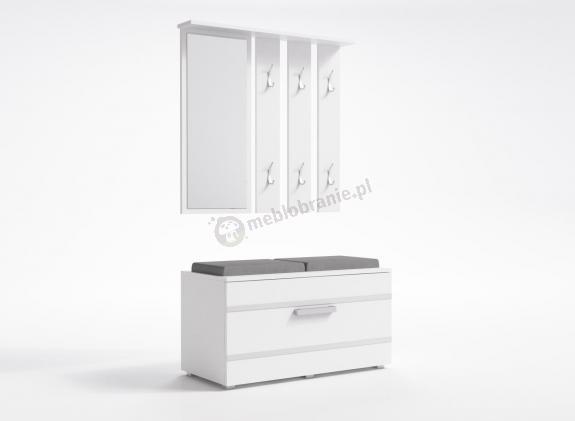 Garderoba do przedpokoju z lustrem i komodą Opal