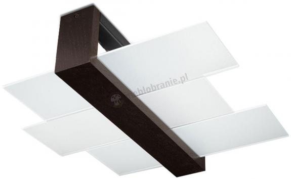Lampa plafon nowoczesny drewno wenge Feniks 2 SL.0074