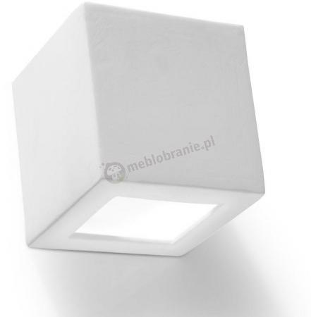 Kinkiet kostka ceramiczny ozdobny biały Leo SL.0005