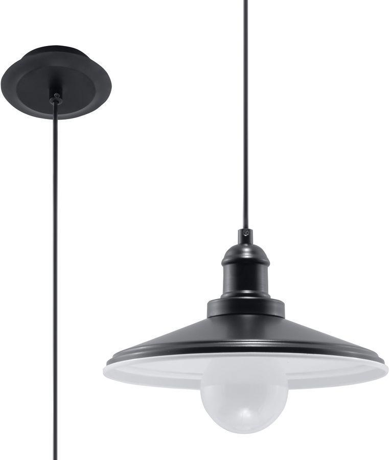 Lampa Czarna Wisząca Na Długim Kablu Mare Sl0307