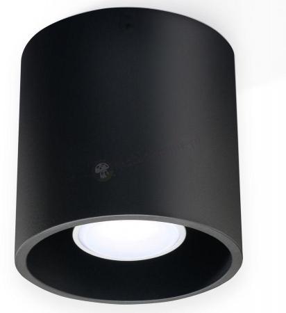 Plafon Orbis czarny na sufiecie
