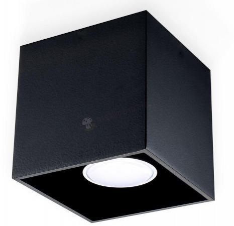 Plafon czarny kwadratowy nowoczesny Quad SL.0022