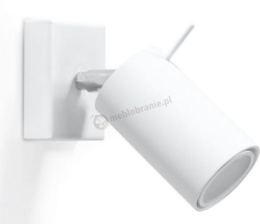 Biały reflektor ścienny punktowy do salonu Ring SL.0087
