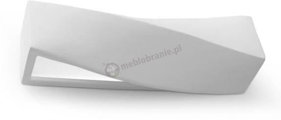 Nowoczesny kinkiet ceramiczny biały Sigma SL.0003