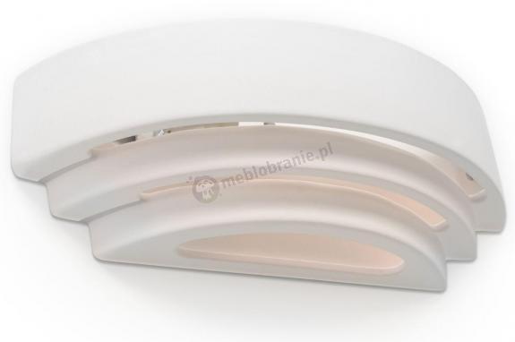Designerski kinkiet ceramiczny biały Trisol SL.0033