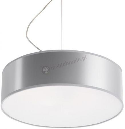 Okrągła lampa wisząca szara do pokoju Arena SL.0116