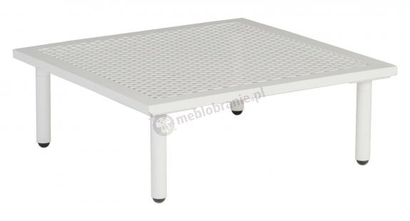Alexander Rose Beach Lounge stolik kawowy biały ogrodowy z aluminium 8804SHALU