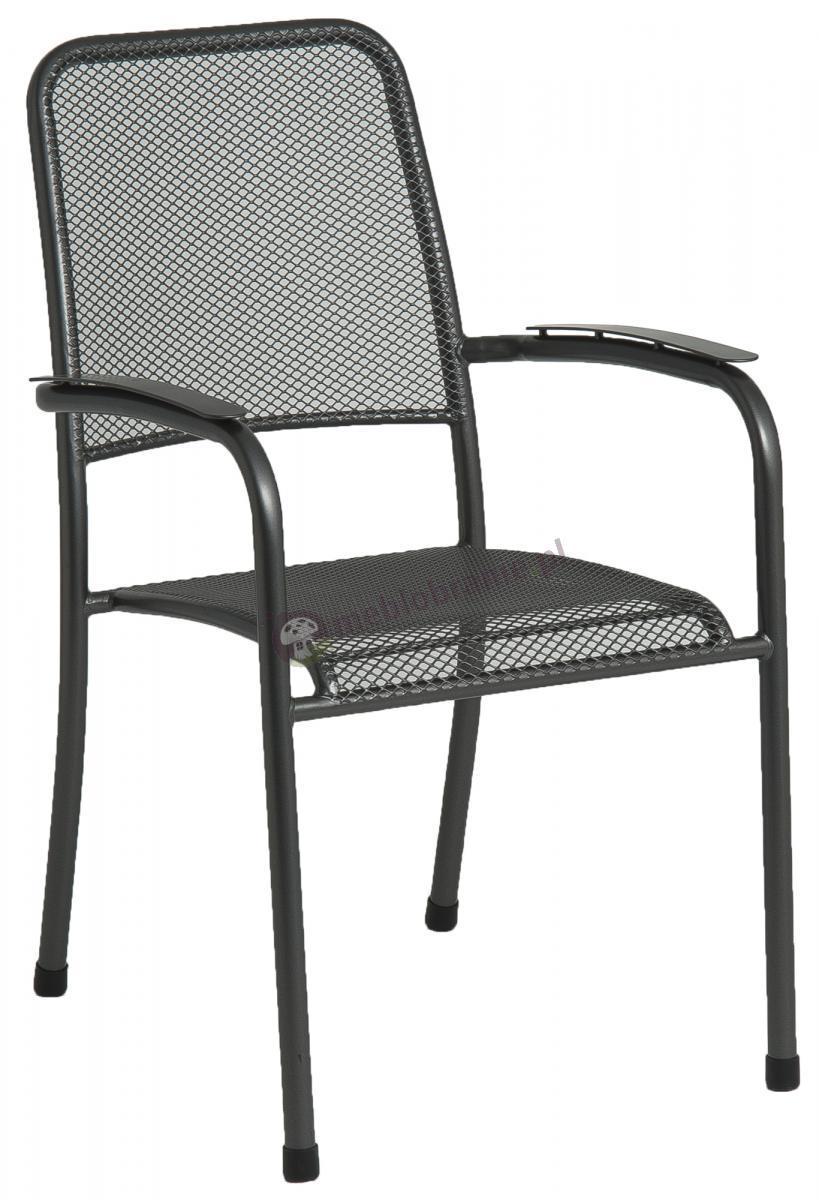 Alexander Rose Portofino proste krzesło z podłokietnikami stalowe 7952