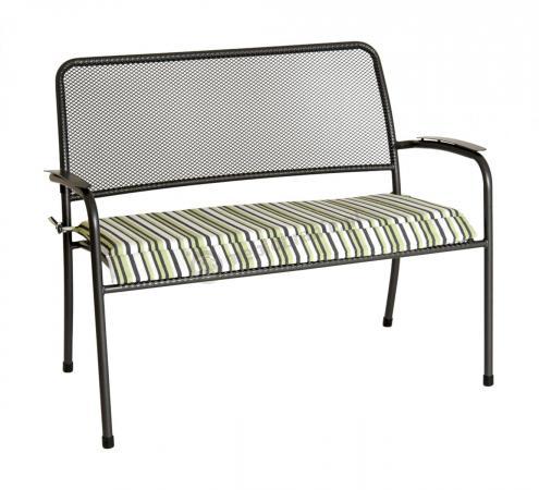 Alexander Rose Portofino ławka stalowa z poduszką ogrodowa 7956CGST