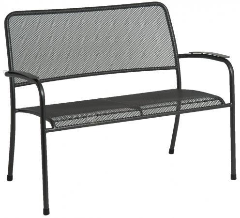 Alexander Rose Portofino ławka stalowa ogrodowa z podłokietnikami 7956