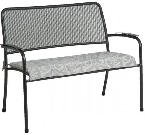 Alexander Rose Portofino stalowa ławka ogrodowa z poduszką 7956CHST