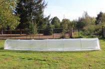 Niski tunel foliowy ogrodowy Mini 7,5x0,8m