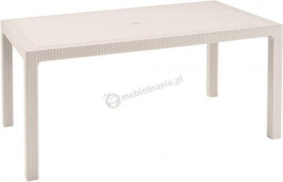 WYPRZEDAŻ - Stół ogrodowy Melody Biały 160x95cm