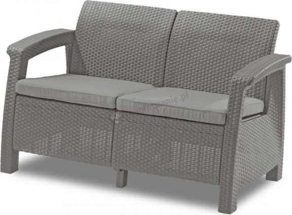 WYPRZEDAŻ - Curver Corfu Sofa Love Seat - cappuccino