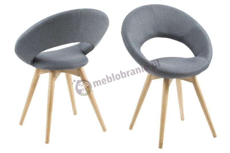 Actona Plump krzesło szare z drewnianymi nogami