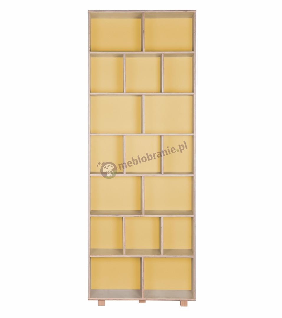 Regał 215x80 żółty