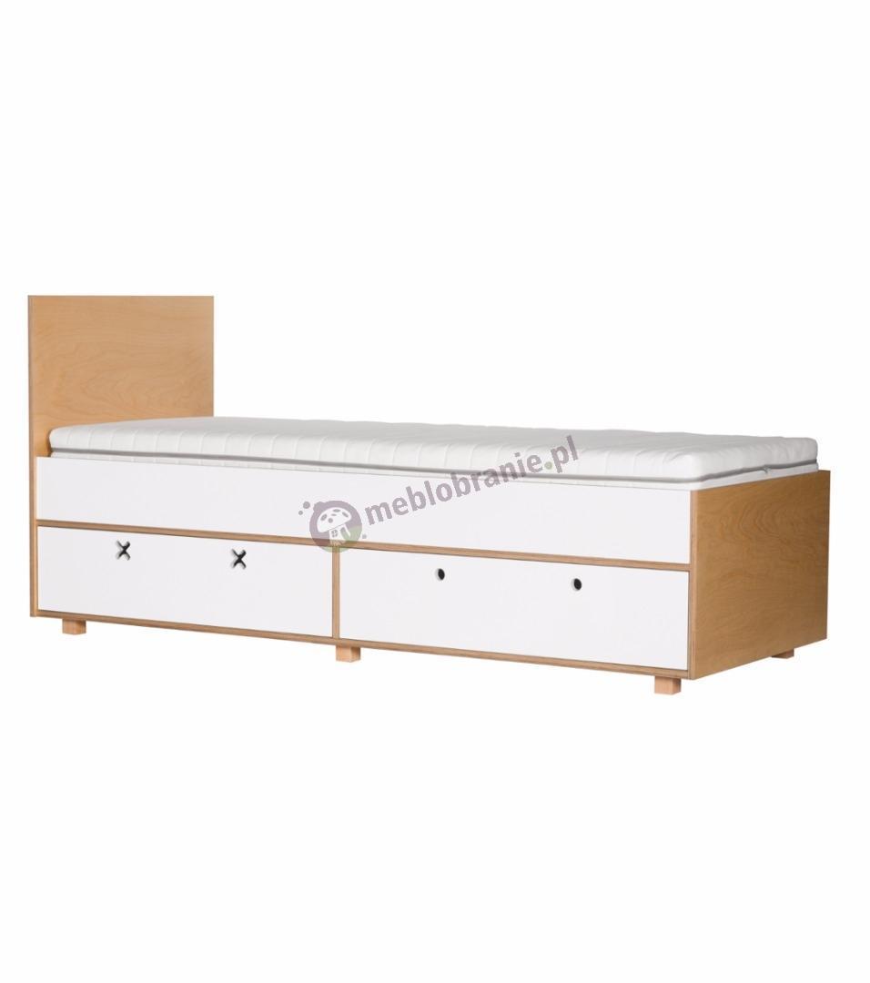Łóżko 205,5x80 białe