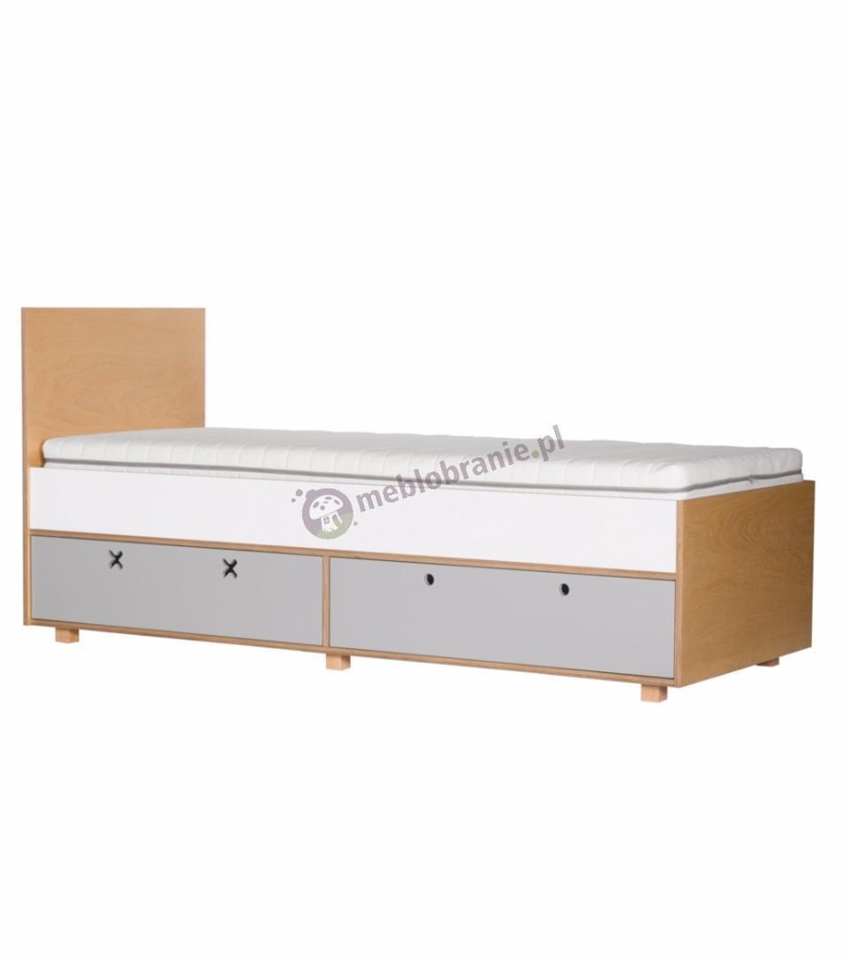 Łóżko 205,5x80 szare
