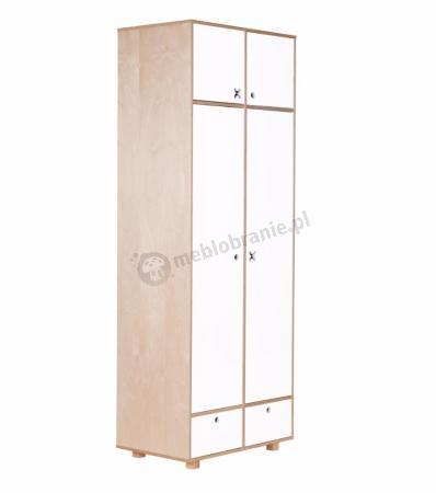 Szafa 2-drzwiowa kółko i krzyżyk biała