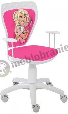 Fotel dziecięcy z Barbie Ministyle White TS22 GTP Barbie z Pieskiem