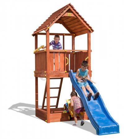 Plac zabaw drewniany zjeżdżalnia plastikowa Fungoo Joy