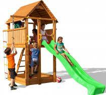 Zjeżdżalnia ogrodowa dla dzieci z drewna Fungoo Fortress