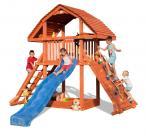 Drewniany plac zabaw ze zjeżdżalnią i ścianką Fungoo Giant