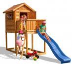 Domek ogrodowy drewniany ze zjeżdżalnią Fungoo MyHouse