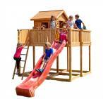 Plac zabaw dla dzieci zjeżdżalnia i domek Fungoo MySpace XL