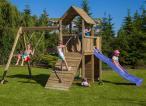 Plac zabaw z drewna do ogrodu dla dzieci Fungoo Carol 3