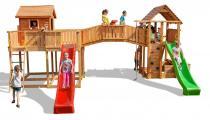 Plac zabaw zamek z drewna do ogrodu Maxi Joyful Castel
