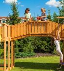 Plac zabaw zamek z drewna do ogrodu Maxi Joyfull Castel
