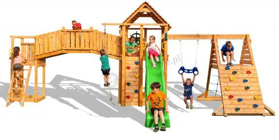 Topnotch Drewniany plac zabaw ścianki wspinaczkowe Maxi Fun Gym SI29