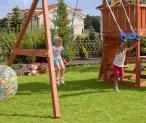 Huśtawka do ogrodu z drewnianym domkiem Sun Hide&Move