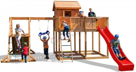 Duży plac zabaw z drewna dla dzieci My Space XL Spider