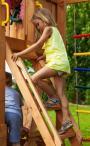 Plac zabaw z drewna dla dzieci do ogrodu Spider Fortress