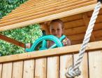 Plac zabaw dla dzieci drewniany mostek Rainbow Fortress Tip