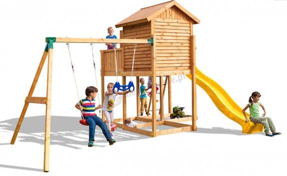 Modish Drewniany plac zabaw dla dzieci huśtawka zjeżdżalnia Move MySide BT36