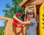 Drewniany plac zabaw dla dzieci huśtawka zjeżdżalnia Move MySide