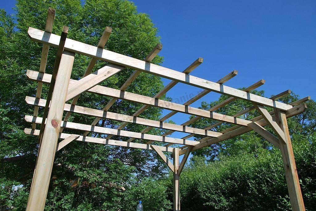 pergola ogrodowa drewniana henley 3x3m. Black Bedroom Furniture Sets. Home Design Ideas