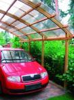 Carport – garaż drewniany z dachem na 1 auto 3,6x5m