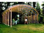 Modułowy garaż drewniany z dachem na 2 auta 6x6m